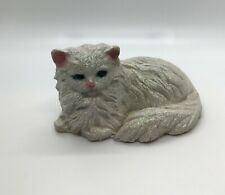 Persian Cat Laying Down Figurine Sand Sculpture