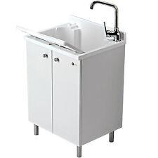 Mobile lavatoio 60x50 lavanderia Montegrappa 2 ante e asse lavabo termoplastico