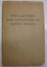 Booklet Poem Latitude Longitude Henry Miller Poetic marathon Press 1st Ed. 1962