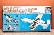 1/72 HASEGAWA AIRCRAFT WEAPONS II US GROUND BOMBS & GUN PODS MODEL KIT # X72-002
