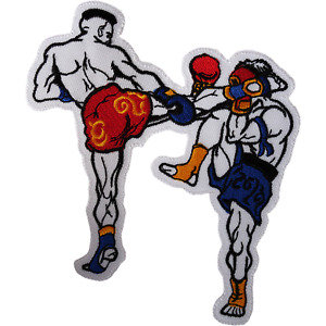 Muay Thai Boxing Patch Iron Sew On Jacket Jeans Bag Large Big Embroidered Badge