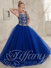 Wedding Flower Girl Dress Birthday gift Pageant Prom Royal Blue Factory for sale