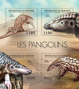Pangolines fauna Burundi m/s Sc.1192 MNH #BUR12606a