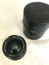 Sigma Mini-Wide 28mm F2.8 Camera Lens Contax Yashica Mount incl Case     L13