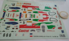 decals decalcomanie deco  toyota corolla monte carlo 1998 1/43