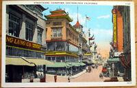 1920 San Francisco, CA Postcard: Chinatown Street Scene - California