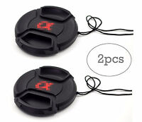 NEW 2x 55mm Snap-On Front Lens Cap Cover for Sony Alpha A200 A300 A350 A230 A330
