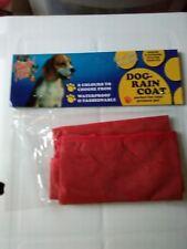 Nuevo Pequeño perro cachorro/Rojo Capa de lluvia.