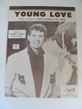 1956 SHEET MUSIC YOUNG LOVE RECORDED BY SONNY JAMES