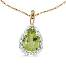 """10k Yellow Gold PEAR Opal Pendant With 18"""" Chain"""