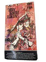 My Fair Lady VHS 2-Tapes Video Movie 1986 CBS Audrey Hepburn Rex Harrison New!
