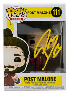 Post Malone Signed Funko Pop JSA