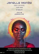"""JANELLE MONAE / ST. BEAUTY """"DIRTY COMPUTER TOUR 2018"""" TAMPA CONCERT POSTER- Funk"""