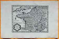 VAN DER AA Gravure originale c1725 CARTE DU ROYAUME DE FRANCE Lotharingie Quercy