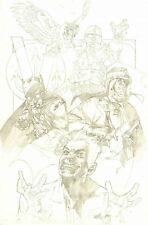 TONY HARRIS SIGNED 2000 JSA LIBERTY FILES UNPUBLISHED COVER ART-BATMAN, JOKER!