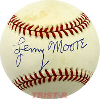 LENNY MOORE SIGNED AUTOGRAPHED AL BASEBALL TRISTAR - BALTIMORE COLTS