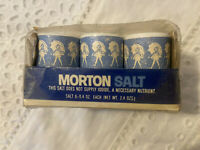 Vintage MORTON SALT mini Salt Shakers 6 pack, used for camping, etc.  See Pic