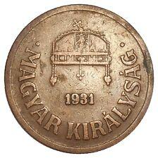 Hungary 2 Filler 1931 BP KM#506 - MAGYAR KIRÁLYSÁG (H-15) mintage: 825,640