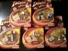 2008 Hasbro Indiana Jones lot of 5 Figures: Monkey Man, Sallah, Rene Belloq NEW