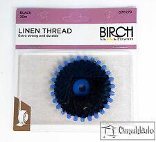 BIRCH - Linen Thread - 20 Metres - Black