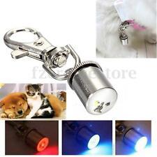 DOG PET FLASHING LED Pendant LIGHT BLINKER SAFETY NIGHT COLLAR TAG WATERPROOF