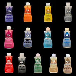 RIT LIQUID DYEMORE, For synthetics: Polyester, Nylon, Acrylic - Multiple Colors
