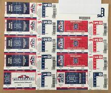 2012 MLB DETROIT TIGERS POSTSEASON ALDS ALCS FULL BASEBALL TICKETS SHEET YANKEES