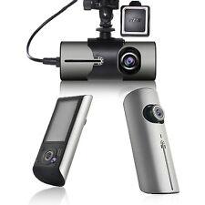 "Indigi Dual Camera Wide Angle Dashboard Crash Cam DVR - 2.7"" LCD - GPS Module"