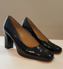 "Bally Ladies Black Patent Leather Heeled Court Shoes ""Nebria""  UK 4.5"