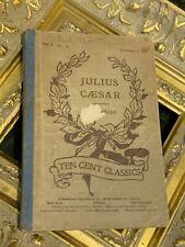 JULIUS CAESAR TEN CENT CLASSIC BOOK VOL 1 NO. 17 1898  ANTIQUE SHAKESPEARE