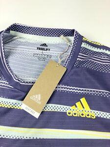 Adidas Freelift Men Tee Heat Multi Color Stripe Shirt FK0802 Large