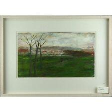 Framed Sylvia Levine Park Landscape Vintage Modern Park Landscape Oil Painting