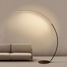 Minimalist Iron Fishing Lights,Modern LED Floor Lamps,black-warm light