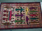 "4'8""×2'11"" ft  Afghan War Rug war wool veg dyed rug war rug art"