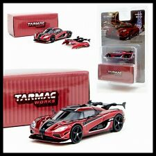 TARMAC WORKS GLOBAL64 1/64 KOENIGSEGG AGERA RS RED / BLACK DIECAST CAR NEW