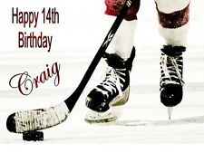 ICE HOCKEY A4 TRIFOLD BIRTHDAY CARD PERSONALISED BIRTHDAY CARD ANY NAME ANY AGE