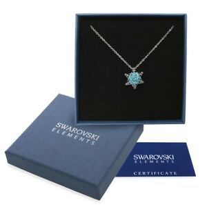 Collana argento Swarovski Elements originale G4Love cristalli neve Frozen Elsa