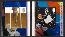 GB 2010 sg3022-3 & Paralímpicos 2 pista de baloncesto olímpico Sport Auto Adhesivo estampillada sin montar o nunca montada