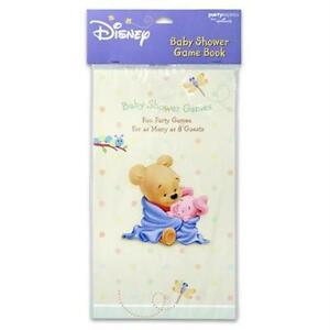 NEW POOH'S BABY SHOWER GAME BOOK, TIGGER, PIGLET, EEYORE, FUN PARTY GAMES
