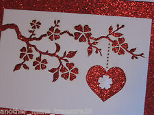 Sparkly Papyrus Laser Cut Happy Valentine's Day Heart & Flowers Love Card - New!