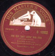 "CAT WOMAN EARTHA KITT 78  "" I'VE GOT THAT LOVIN' BUG ITCH "" UK HMV B 10922 EX/E-"