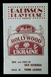 A Day In Hollywood A Night In The Ukraine programme Radisson Playhouse MN 1985