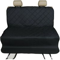 Heavy Duty Premium Quilted Rear Seat Protector Pet Hammock Boot Liner Cover 2in1