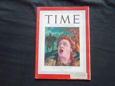 1946 NOVEMBER 11 TIME MAGAZINE - METROPOLITAN OPERA'S HELEN TRAUBEL - T 1046