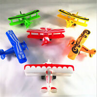 Mini Vintage Plastic Plane Model Aircraft GliderBiplane Airplane Model Kids Toca