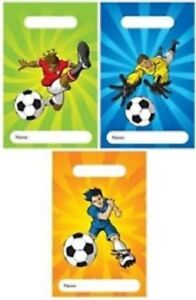 12 Football Design Childrens Party Bags / Kids Fillers Gifts Favours Toys Sweets