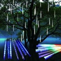Meteor Shower Falling Star Rain Drop Icicle Snow Fall LED String Light For Xmas