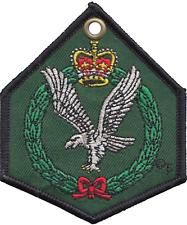 britannique Armée Air Corps AAC écusson double faces brodé chiffon Porte clé