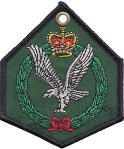 British Army Air Corps AAC Crest Double-Sided Embroidered Cloth Keyring