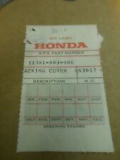 Honda HS50 Snowmobile NOS Cover Gasket 11381-883-000